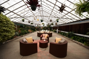 Lounge at Wedding at Philadelphia Horticulture Center
