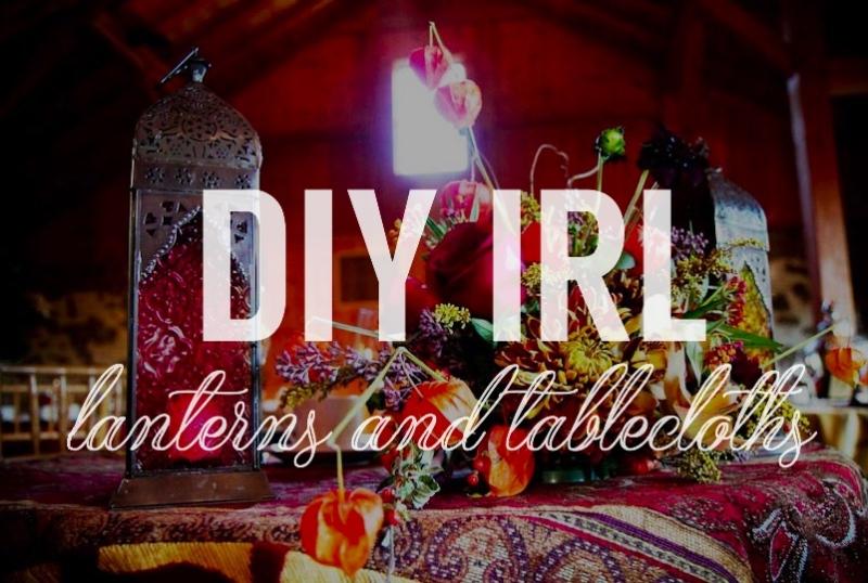 wedding diy linens and lanterns