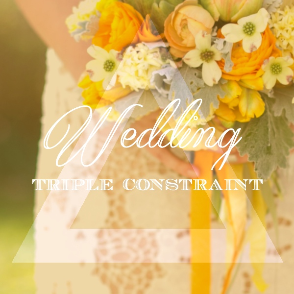 wedding budget triple constraint